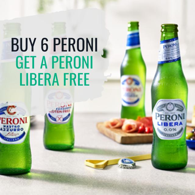 Buy 6 x Peroni and get a Peroni Libera Free