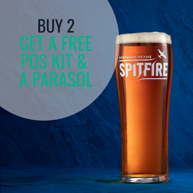 Buy 2 Spitfire Amber 9G's and get a free POS Kit and a parasol