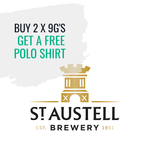 St Austell - Buy 2 x 9G's and get a free polo shirt